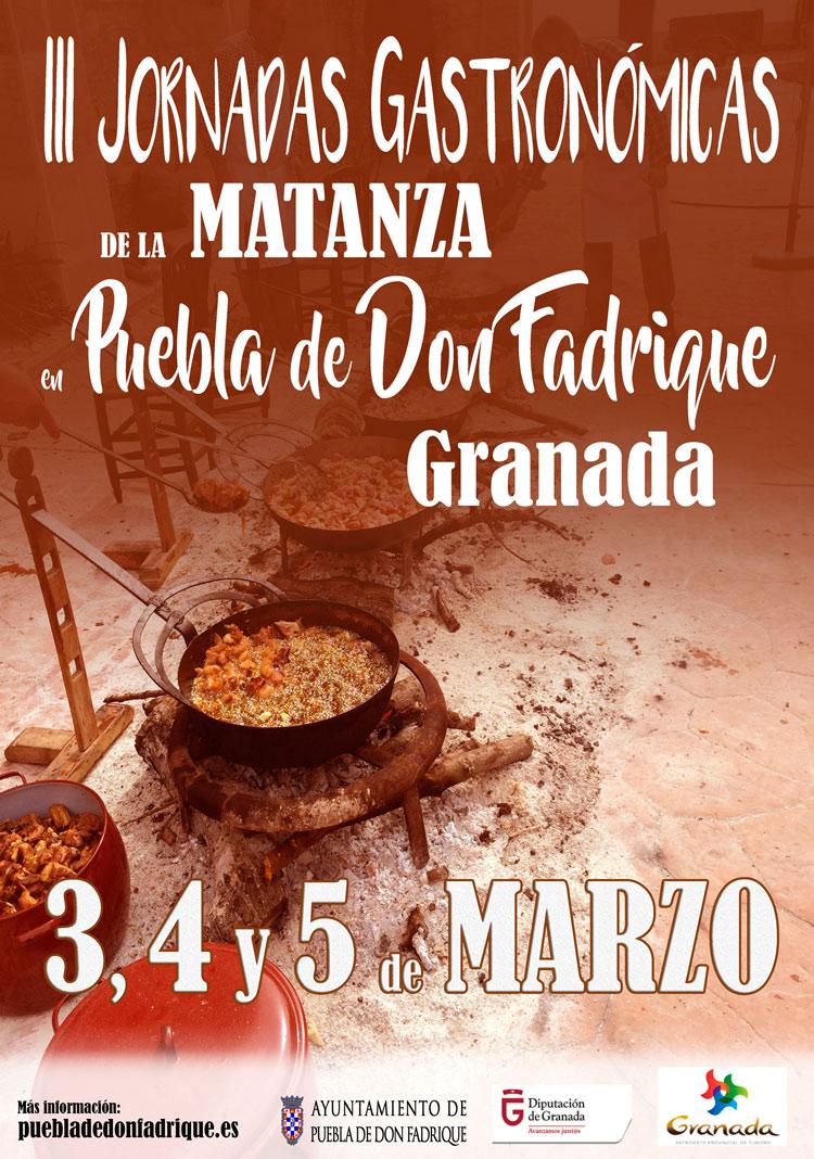 III Jornadas gastronómicas de la Matanza de Puebla de D. Fadrique