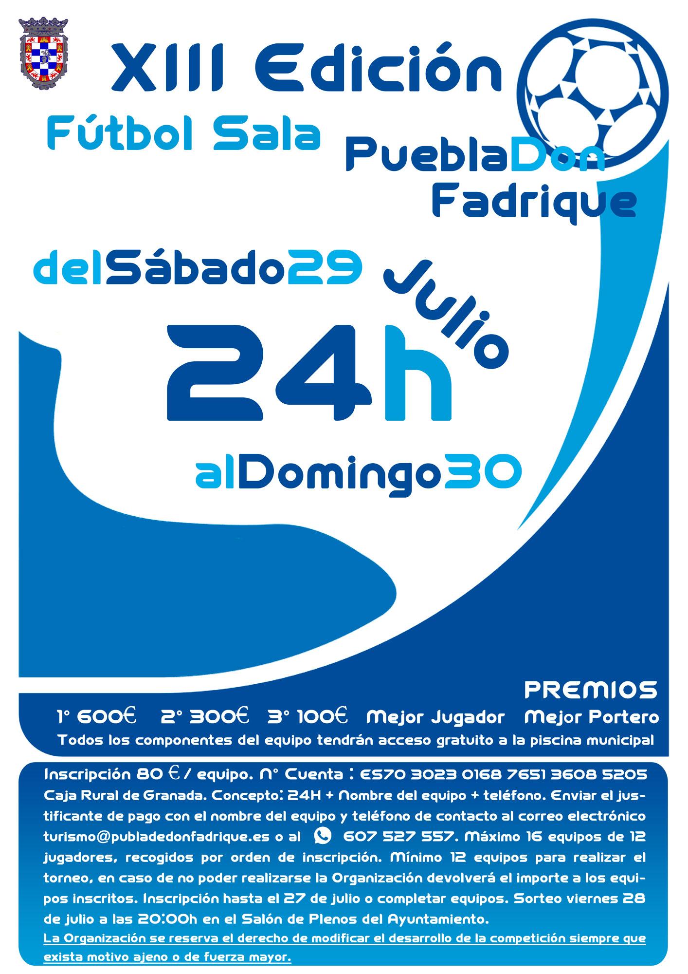 XIII Torneo 24 horas de fútbol sala.