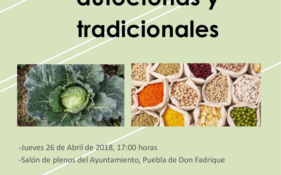 Jornada sobre recuperación de variedades agrícolas autóctonas y tradicionales.